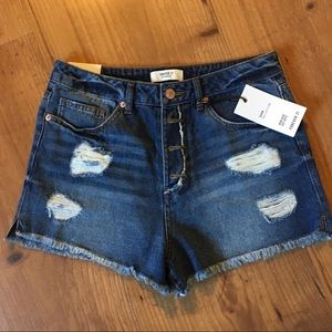 Forever 21 jean shorts distressed size 28